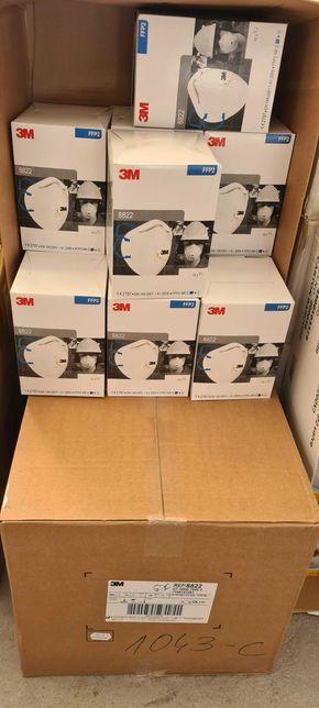 Maski, maseczki antywirusowe 3M8822 FFP2 370szt. 95% skuteczność! CE