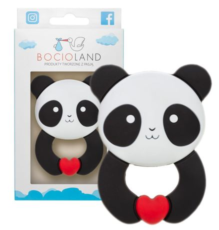 Bocioland Gryzak Silikonowy Panda 5116
