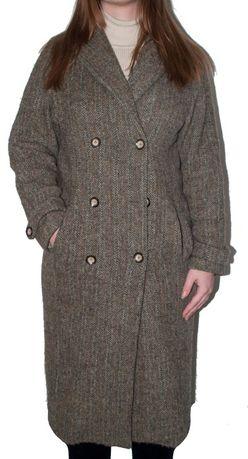 Твидовое Пальто Женское Brora Harris Tweed Оригинал