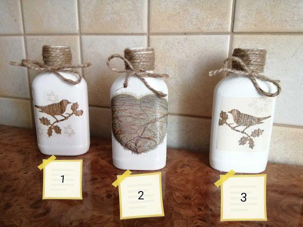 Buteleczki piersiówki szklane 100 ml różne wzory