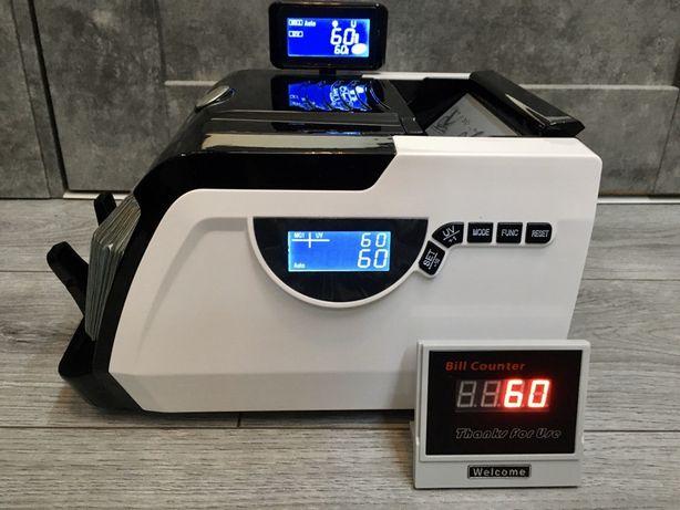 Счетная машинка с детектором валюты, счетчик банкнот для денег.