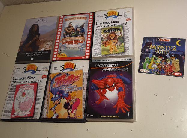 Lote 7 DVDs Infantis Originais selo IGAC