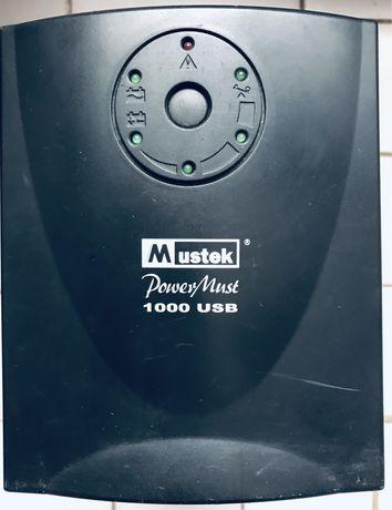 Безперебійний блок живлення ББЖ ИББ АРС Mustek PowerMust 1000 USB 600W