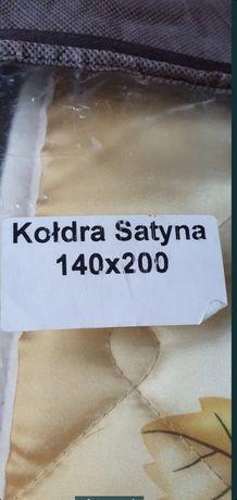 Wełniana kołdra z satynowym poszyciem 140x200