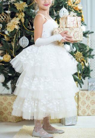 Платье нарядное на выпускной 6-10 лет