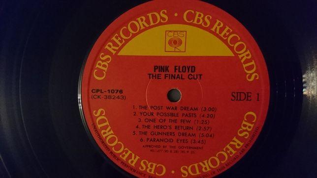 Pink Floyd, The Final Cut, Korea, 1983, IGŁA-JAK NOWA