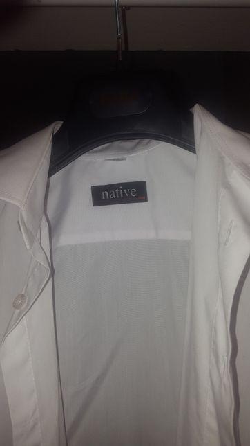 biała koszula Slim 37