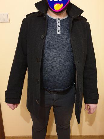Płaszcz męski wełniany elegancki zimowy