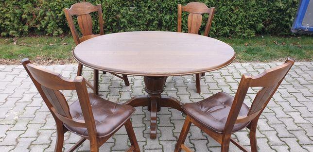 Stół krzesła dębowe
