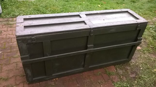 Skrzynia drewniana wojskowa b.duża 170x80x50 skrzynie drewniane okazja