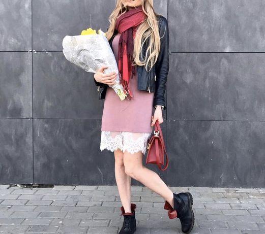 Платье шерсть-кашемир + французкое кружево