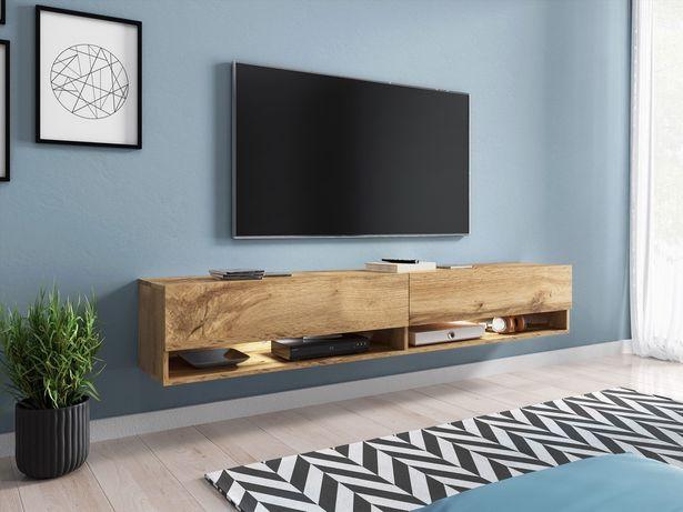 Komoda pod TV, szafka pod telewizor 180 cm - WOTAN, opcja LED