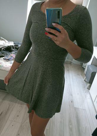 Sukienka H&M rozmiar XS szara