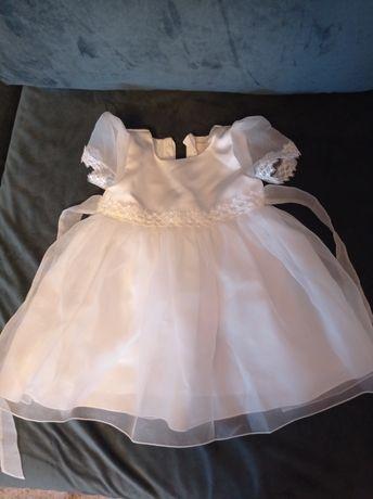 Sukienka biała na chrzest ,wesele , tiulowa