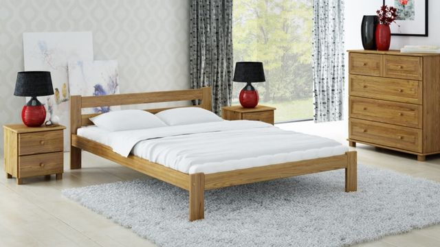 Meble Magnat łóżko drewniane sosnowe Mato 140 różne wymiary kolory
