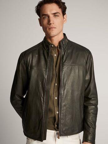 Стильная кожаная куртка Massimo Dutti, р. L-XL