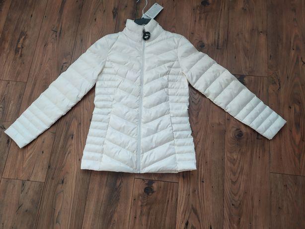 Biała kurtka puchowa 36 M damska nowa C&A
