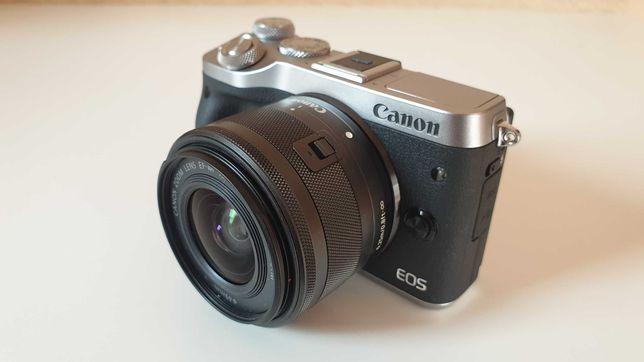 Canon EOS M6 + obiektyw EF-M 15-45mm IS STM + torba