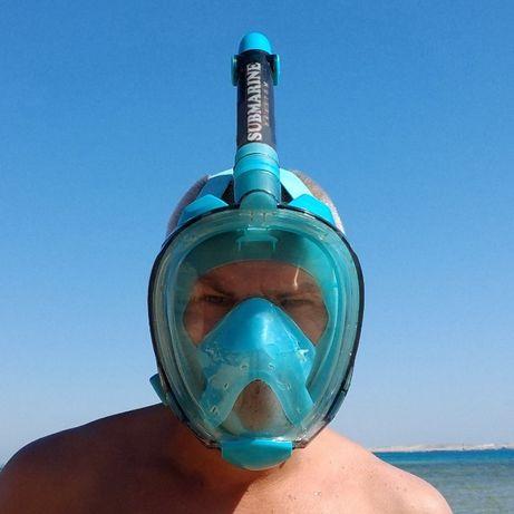 SUBMARINE Phantom подводная маска для плавания, снорклинга.