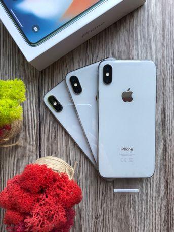 Магазин iPhone X 64 silver NEVERLOCK Гарантия 3 мес.