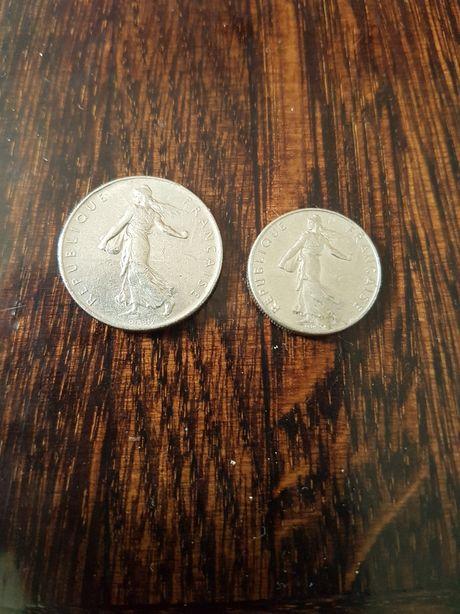 Monety 1 frank i 1/2 franka Francja