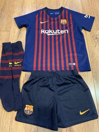 Oryginalny zestaw FC Barcelona 10 Messi z 2018 Nike 104-110cm