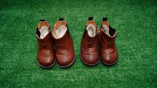 Buty zimowe ocieplane botki brązowe H&M 20/21 i 22