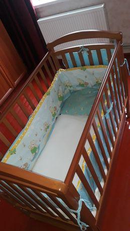 Детская кроватка Соня,натуральное дерево,маятник