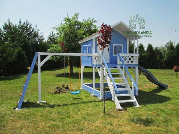 Domek dla dzieci plac zabaw zjeżdżalnia huśtawka