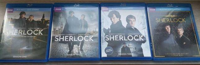 Шерлок / Sherlock Blu-ray + dvd (Сезон 1, 2, 3 + доп. материалы)