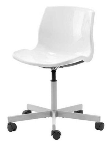 Fotel obrotowy IKEA, SNILLE, biały