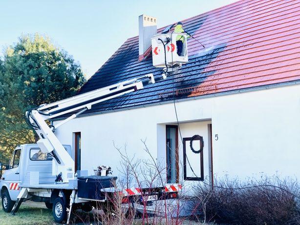 Czyszczenie,mycie dachu dachów, kostki brukowej elewacji