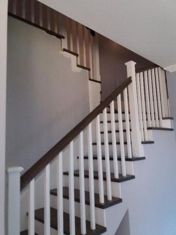 schody stopnie trepy drewniane dąb jesion merbau egzotyk na beton loft