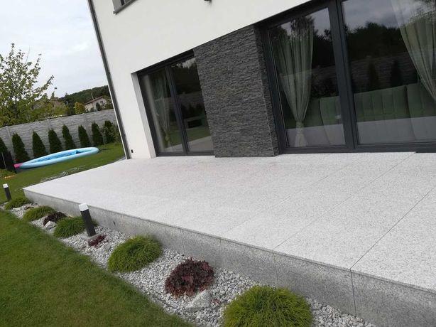 Kamień naturalny GRANIT Piękny ozdobny kamień na taras ogródek szary!!
