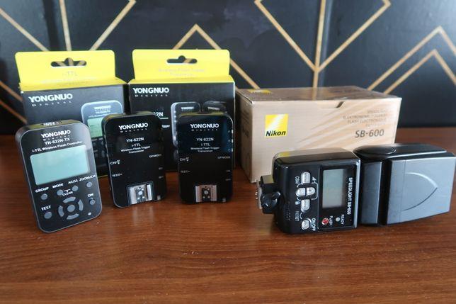 Lampa błyskowa Nikon SB-600 + Yongnuo YN-622N-TX + YN-622N