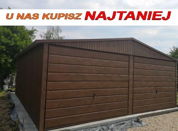 Garaż blaszany 6x5,6x6 każdy wymiar imitacja drewna PRODUCENT
