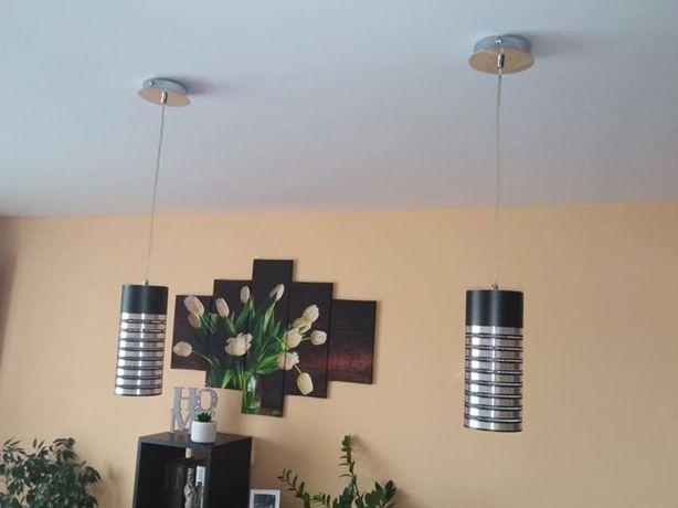 Komplet dwóch lamp wiszących nad stoł do jadalni / salonu