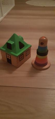 Dziecko zabawki Ikea układanka + domek