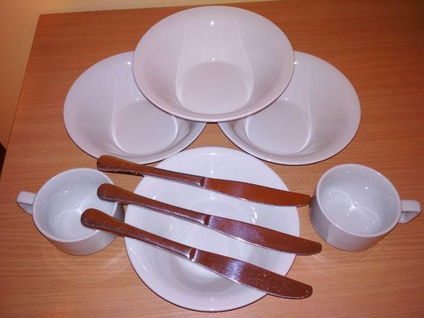 посуда FOREST:тарелки глубокие,чашки кофейные,ножи
