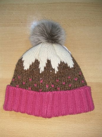 Зимняя теплая шапка на флисе для девочки George 2-3 года