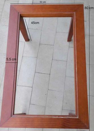 Mesa de sala em cerejeira com vidro incorporado
