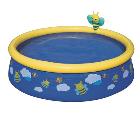 Детский надувной бассейн Bestway 57326 «Пчелки», 152х 38см, синий