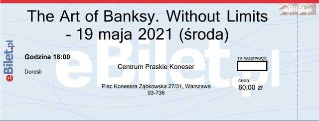 2 bilety The Art of Banksy - 19 maja (środa) godz. 18:00
