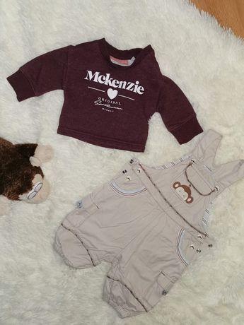 Комплект набір штани на шлейках комбінезон светр джемпер 2-6 міс