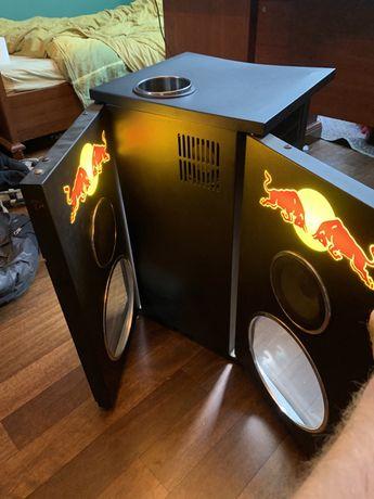 Red Bull Mini Fridge Faux Dj Speaker Cooler Bar Refrigerator Official