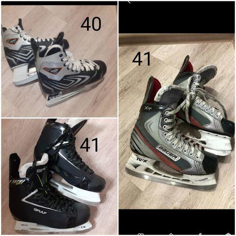Хоккейные краги коньки форма