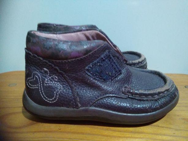 Детские кожаные кроссовки туфельки Clarks