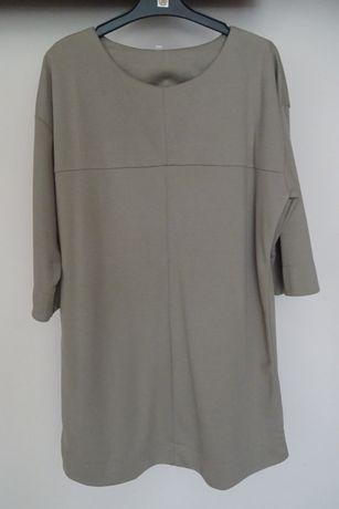 Sukienka tunika kolor cappuccino 42