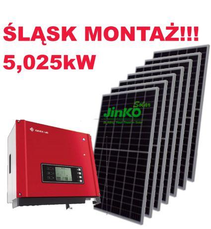 PV, fotowoltaika, zestaw 5,025 kW z montażem 19 600zł.