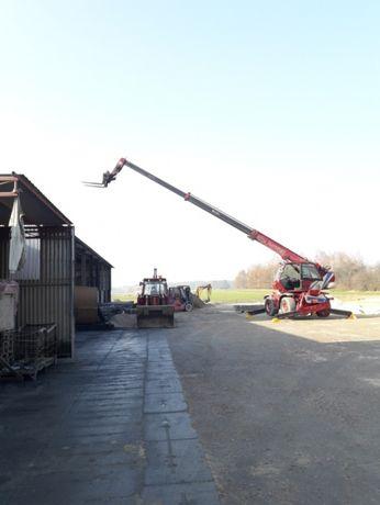 Usługi dźwigowe ładowarką teleskopową obrotową